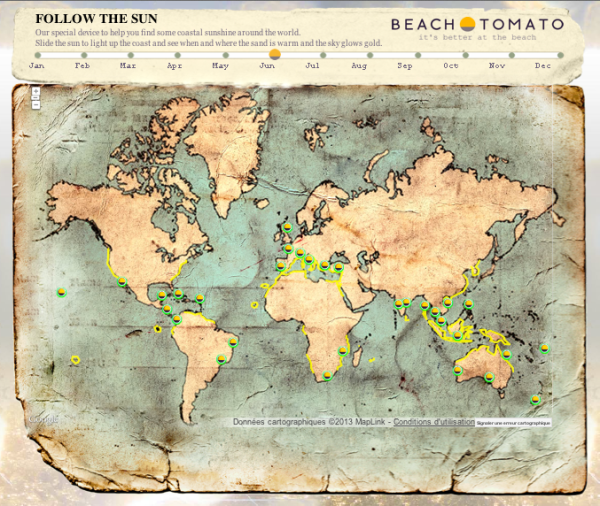 Beach Tomato map